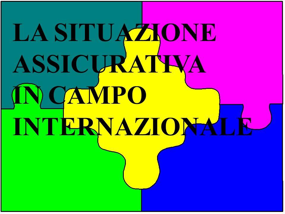 LA SITUAZIONE ASSICURATIVA IN CAMPO INTERNAZIONALE