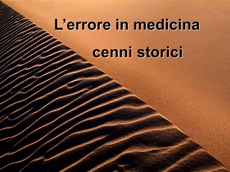 L'errore in medicina cenni storici