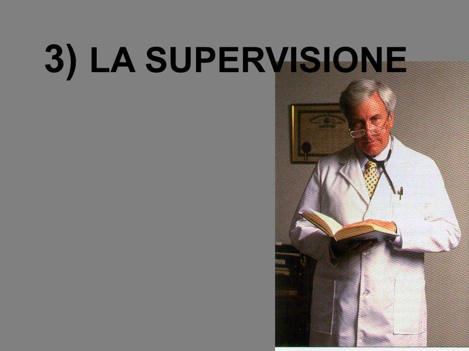 3) LA SUPERVISIONE