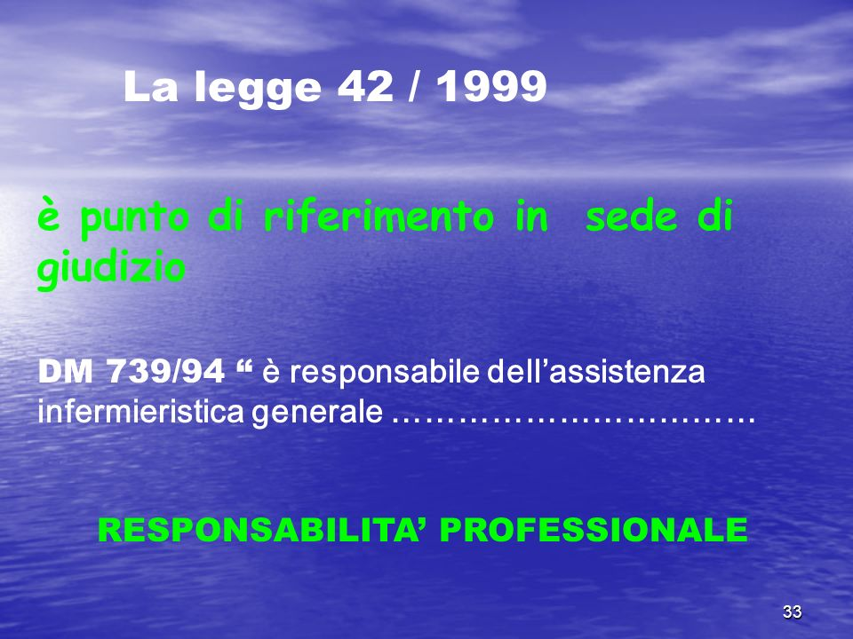 RESPONSABILITA' PROFESSIONALE