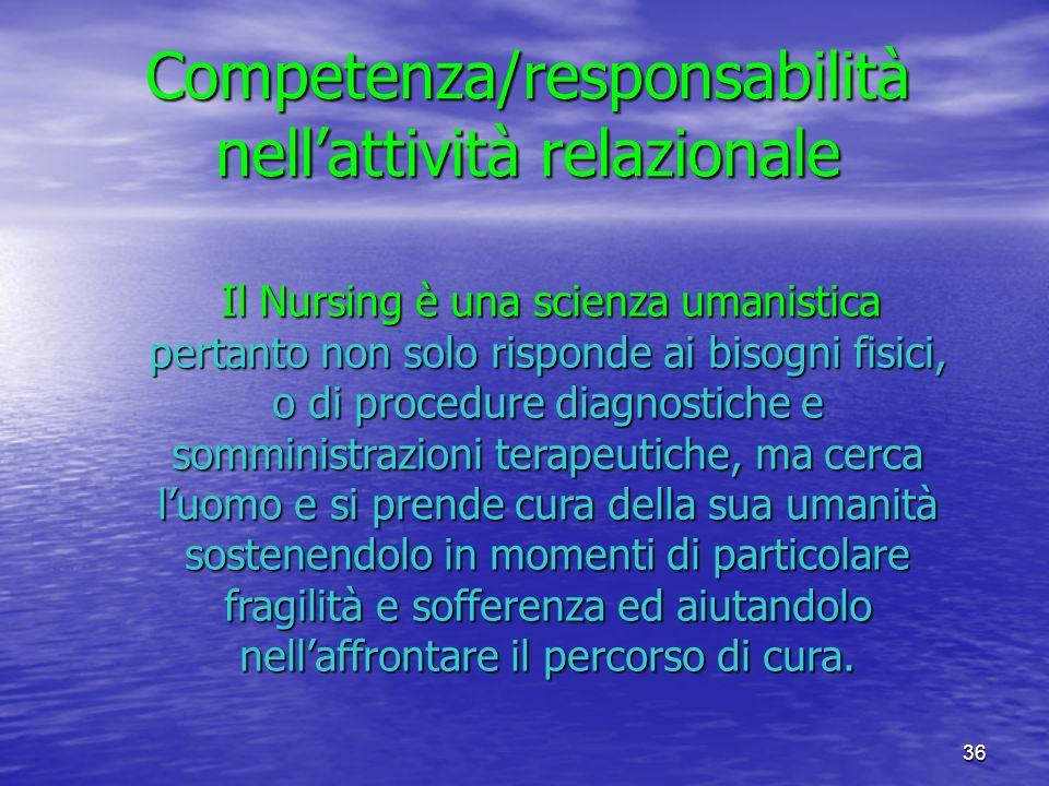 Competenza/responsabilità nell'attività relazionale