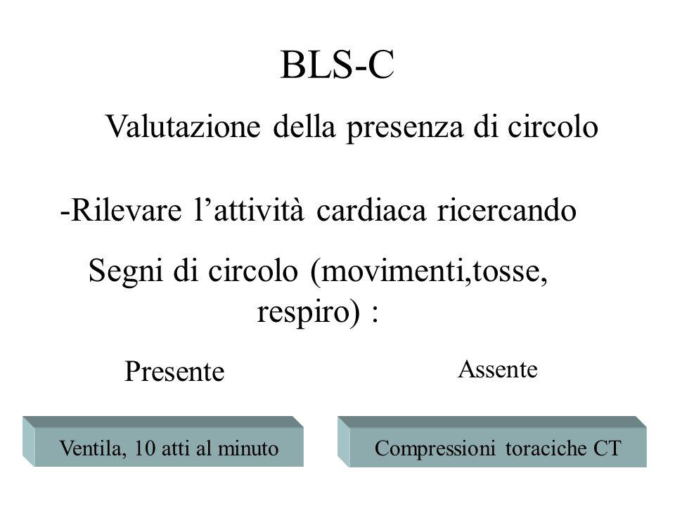 BLS-C Valutazione della presenza di circolo