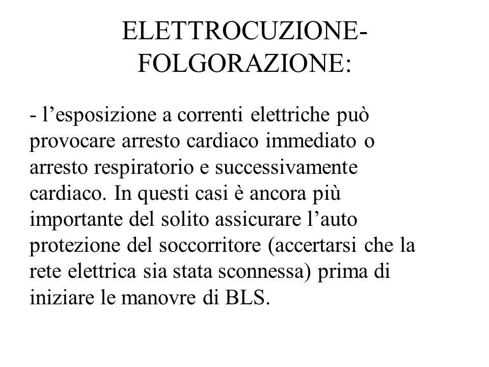 ELETTROCUZIONE- FOLGORAZIONE: