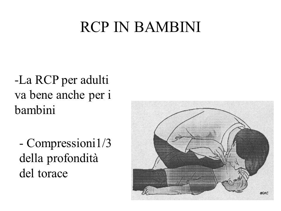 RCP IN BAMBINI -La RCP per adulti va bene anche per i bambini