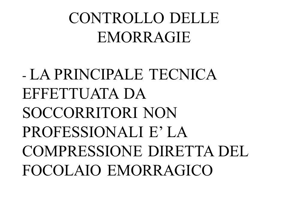 CONTROLLO DELLE EMORRAGIE