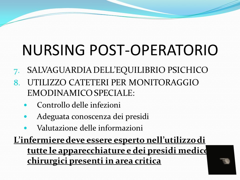 NURSING POST-OPERATORIO