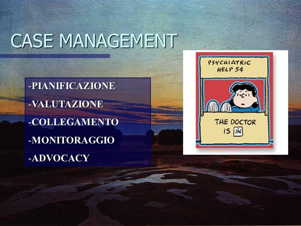 CASE MANAGEMENT PIANIFICAZIONE VALUTAZIONE COLLEGAMENTO MONITORAGGIO