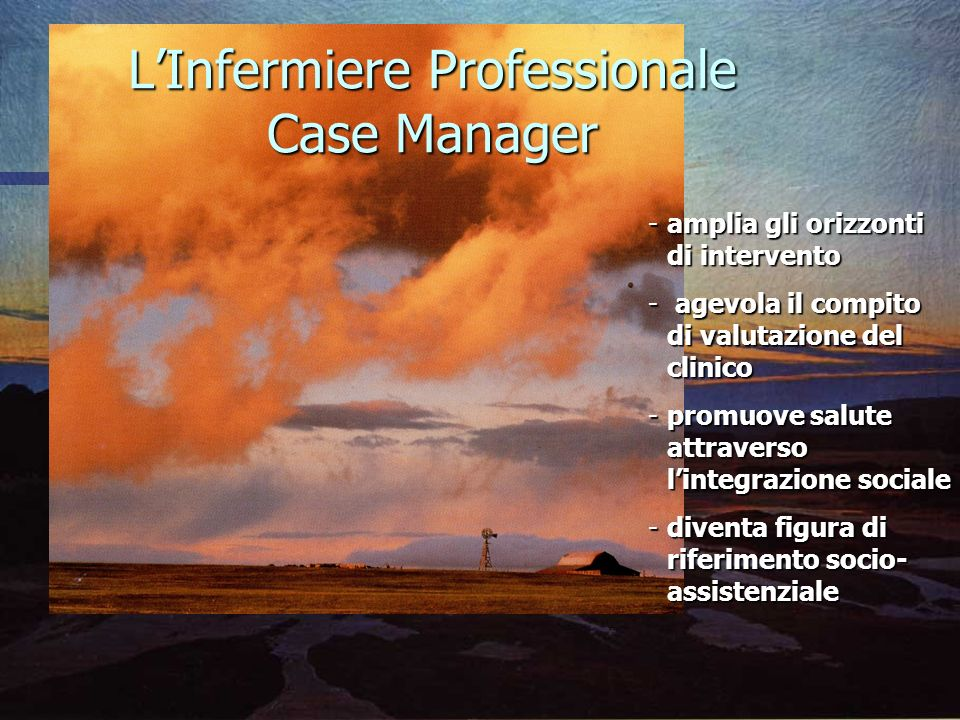 L'Infermiere Professionale Case Manager