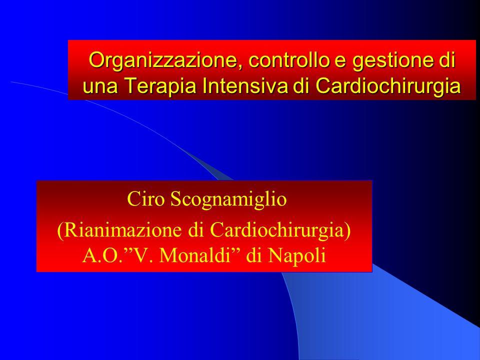 (Rianimazione di Cardiochirurgia) A.O. V. Monaldi di Napoli
