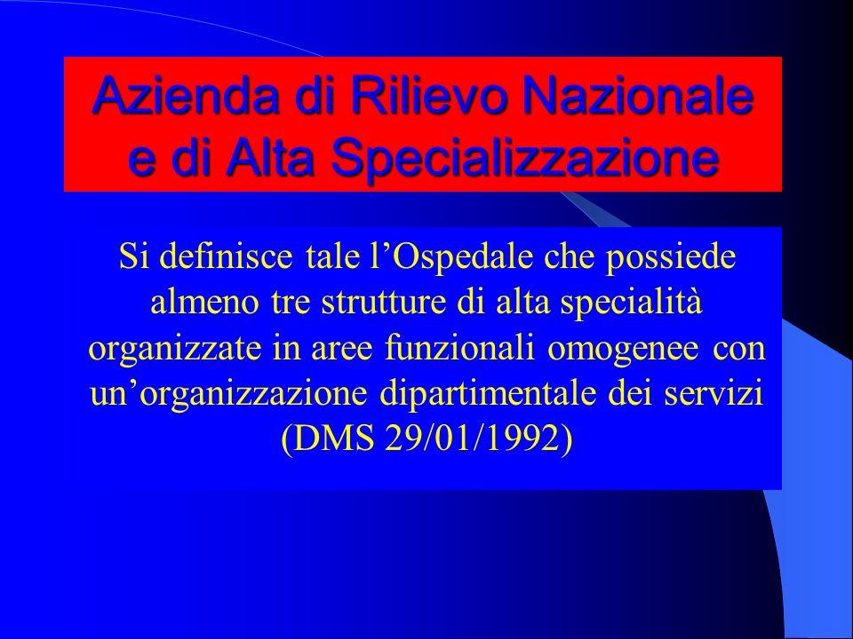 Azienda di Rilievo Nazionale e di Alta Specializzazione