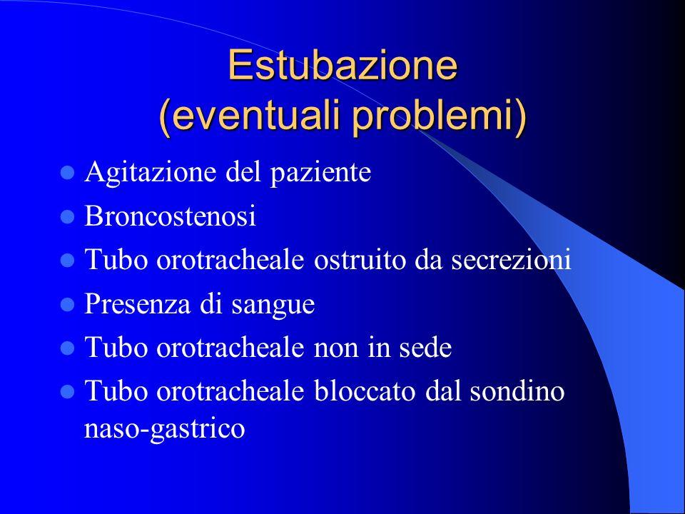 Estubazione (eventuali problemi)