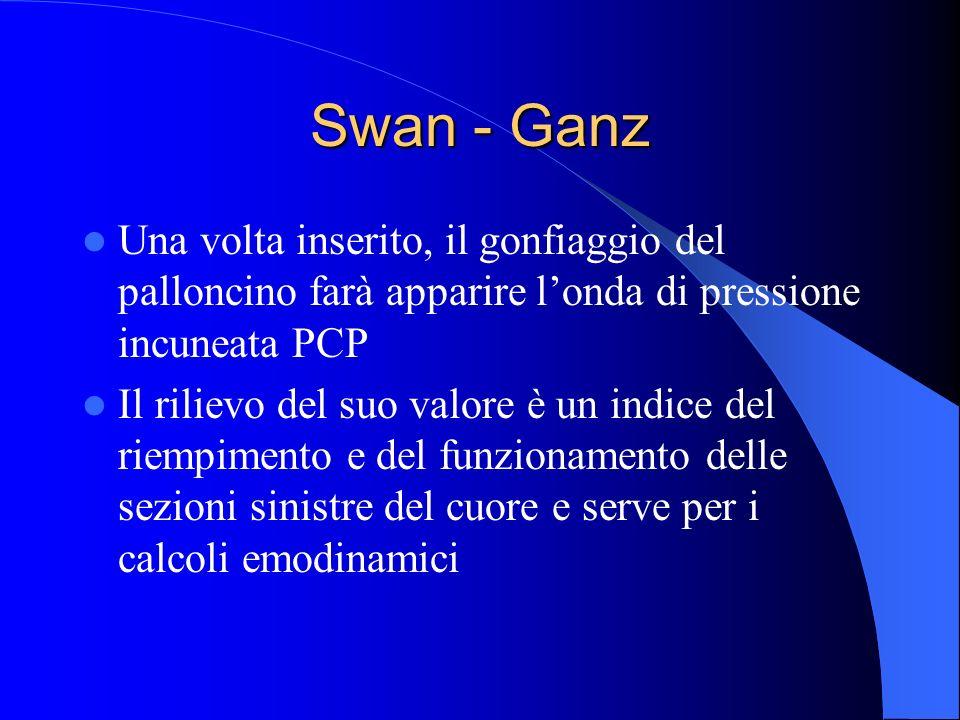 Swan - Ganz Una volta inserito, il gonfiaggio del palloncino farà apparire l'onda di pressione incuneata PCP.