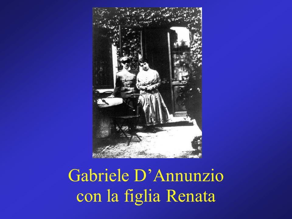 Gabriele D'Annunzio con la figlia Renata