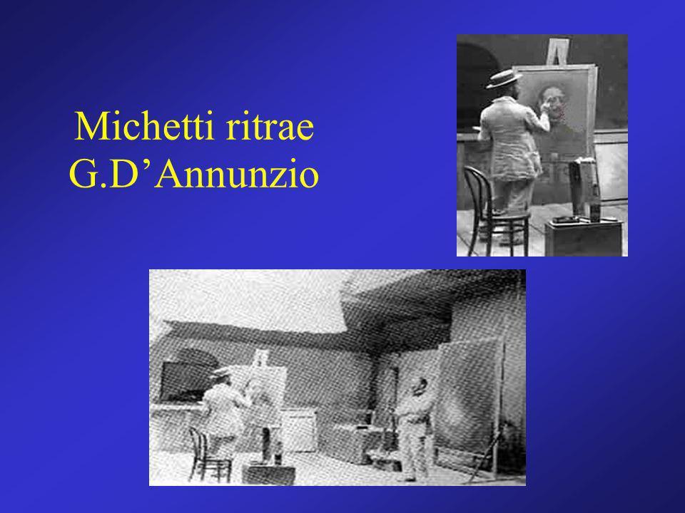 Michetti ritrae G.D'Annunzio