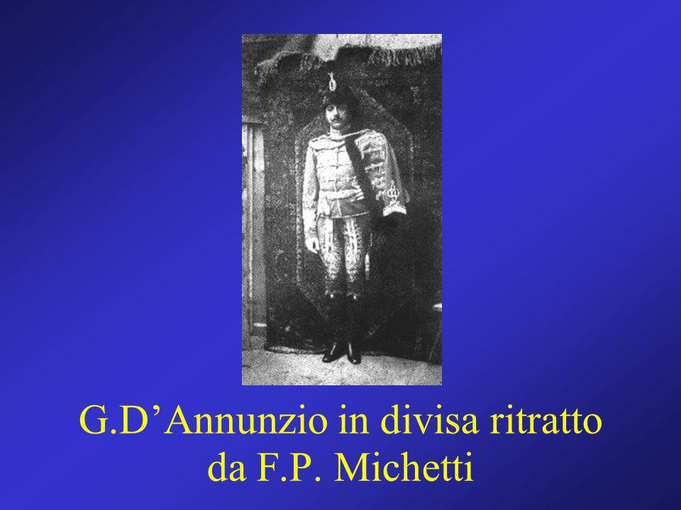 G.D'Annunzio in divisa ritratto da F.P. Michetti