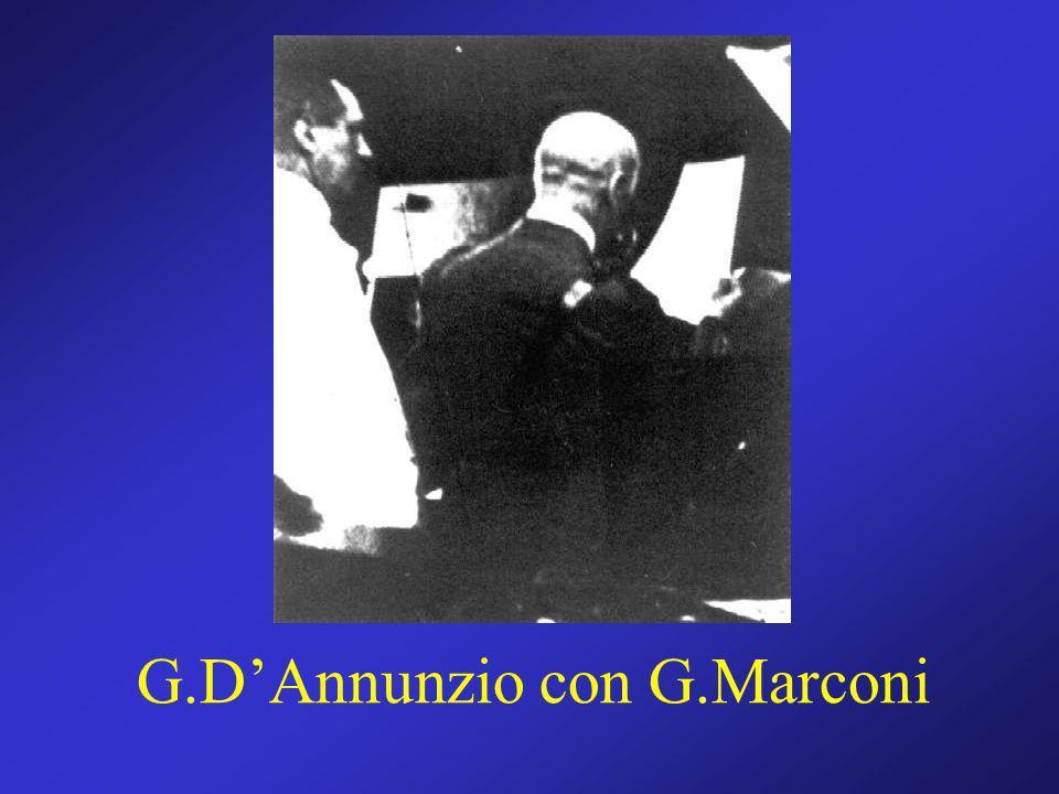 G.D'Annunzio con G.Marconi