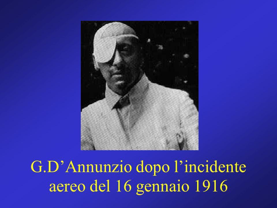 G.D'Annunzio dopo l'incidente aereo del 16 gennaio 1916