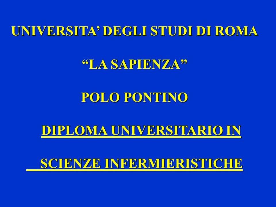 UNIVERSITA' DEGLI STUDI DI ROMA LA SAPIENZA POLO PONTINO
