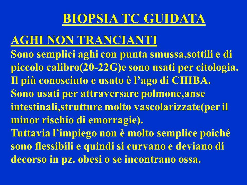BIOPSIA TC GUIDATA AGHI NON TRANCIANTI