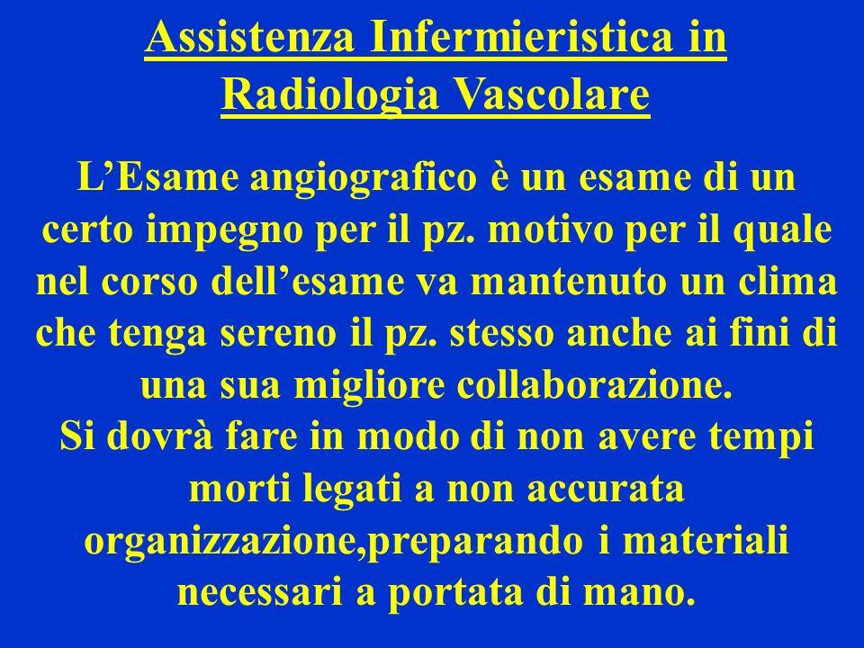 Assistenza Infermieristica in Radiologia Vascolare