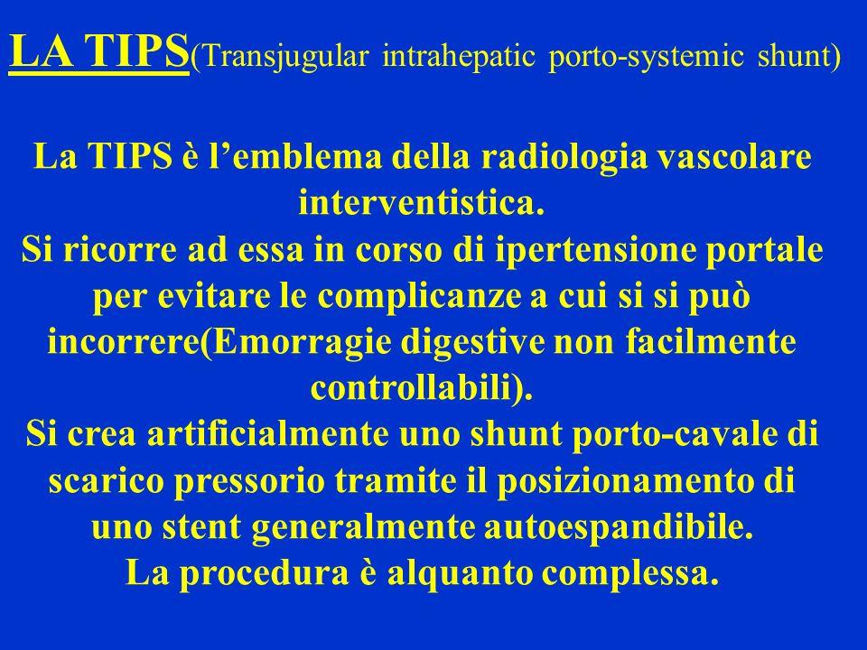 LA TIPS(Transjugular intrahepatic porto-systemic shunt)