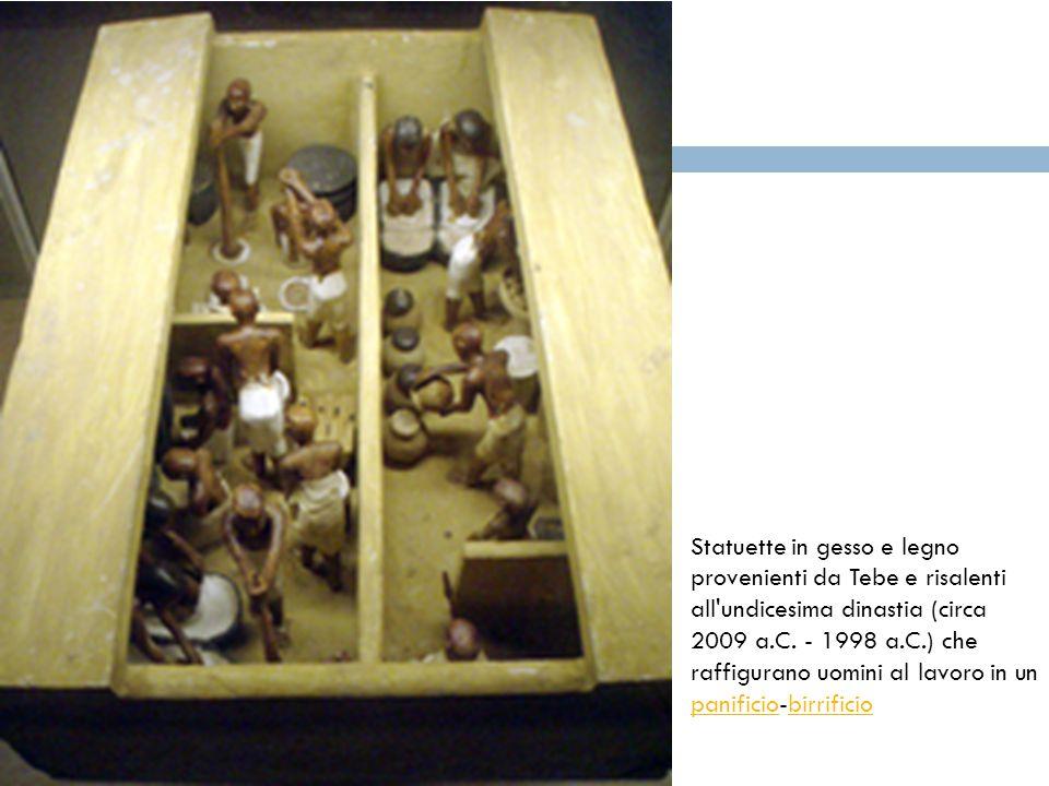 Statuette in gesso e legno provenienti da Tebe e risalenti all undicesima dinastia (circa 2009 a.C.
