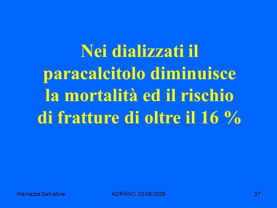 Nei dializzati il paracalcitolo diminuisce la mortalità ed il rischio di fratture di oltre il 16 %