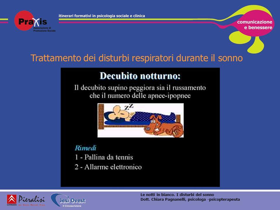 Trattamento dei disturbi respiratori durante il sonno