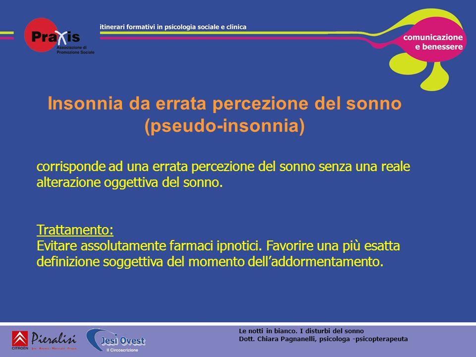 Insonnia da errata percezione del sonno (pseudo-insonnia)