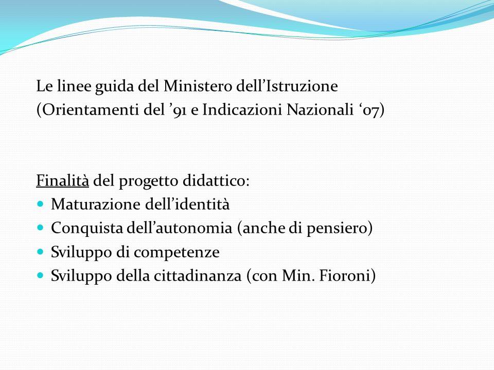 Le linee guida del Ministero dell'Istruzione