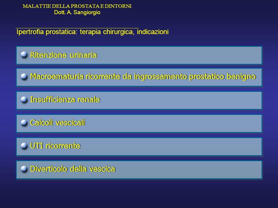 Macroematuria ricorrente da ingrossamento prostatico benigno