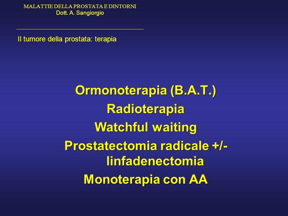 Prostatectomia radicale +/- linfadenectomia