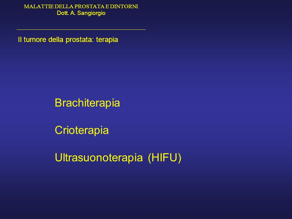 Ultrasuonoterapia (HIFU)