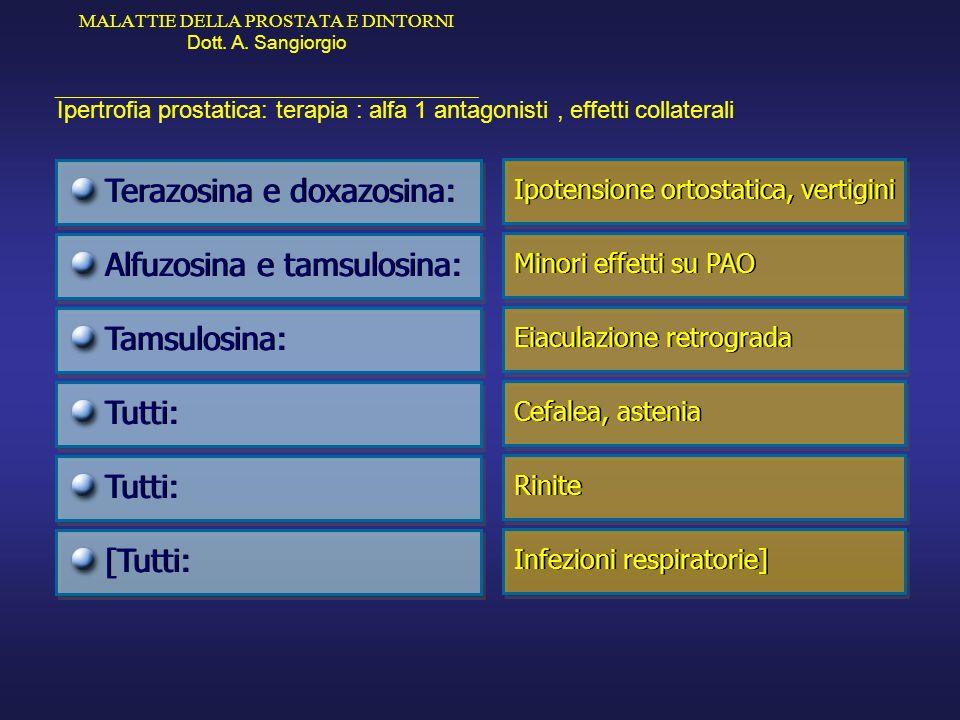 Terazosina e doxazosina: