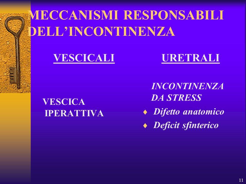 MECCANISMI RESPONSABILI DELL'INCONTINENZA