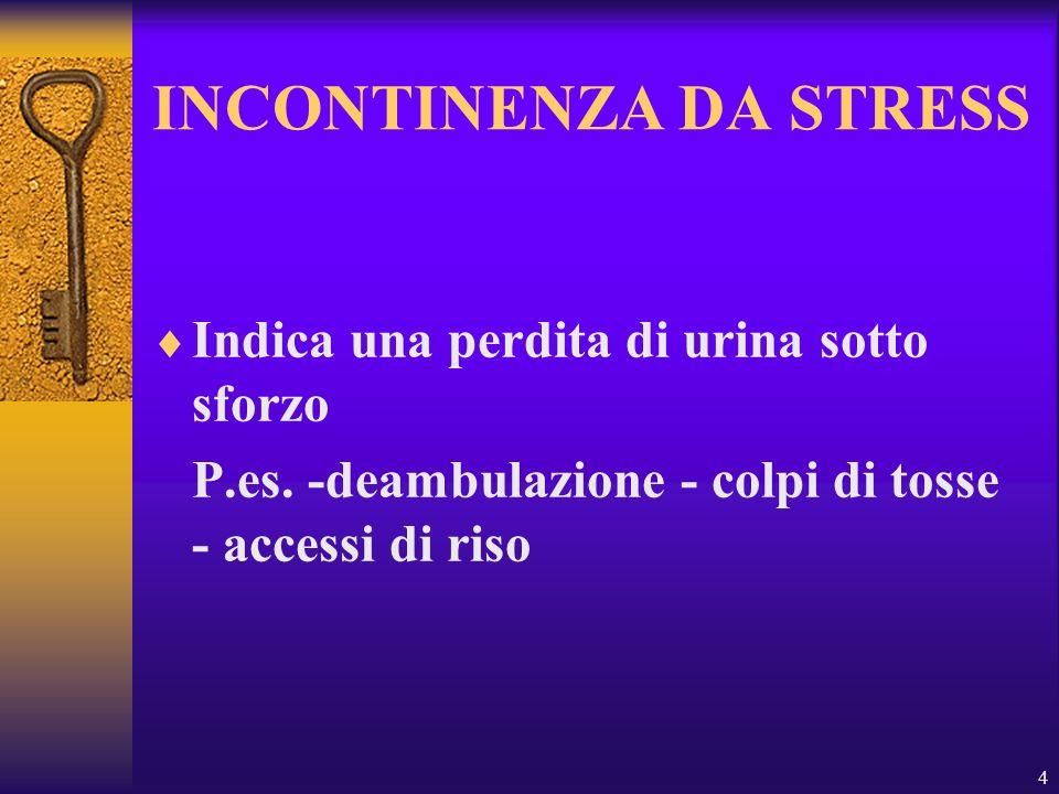 INCONTINENZA DA STRESS