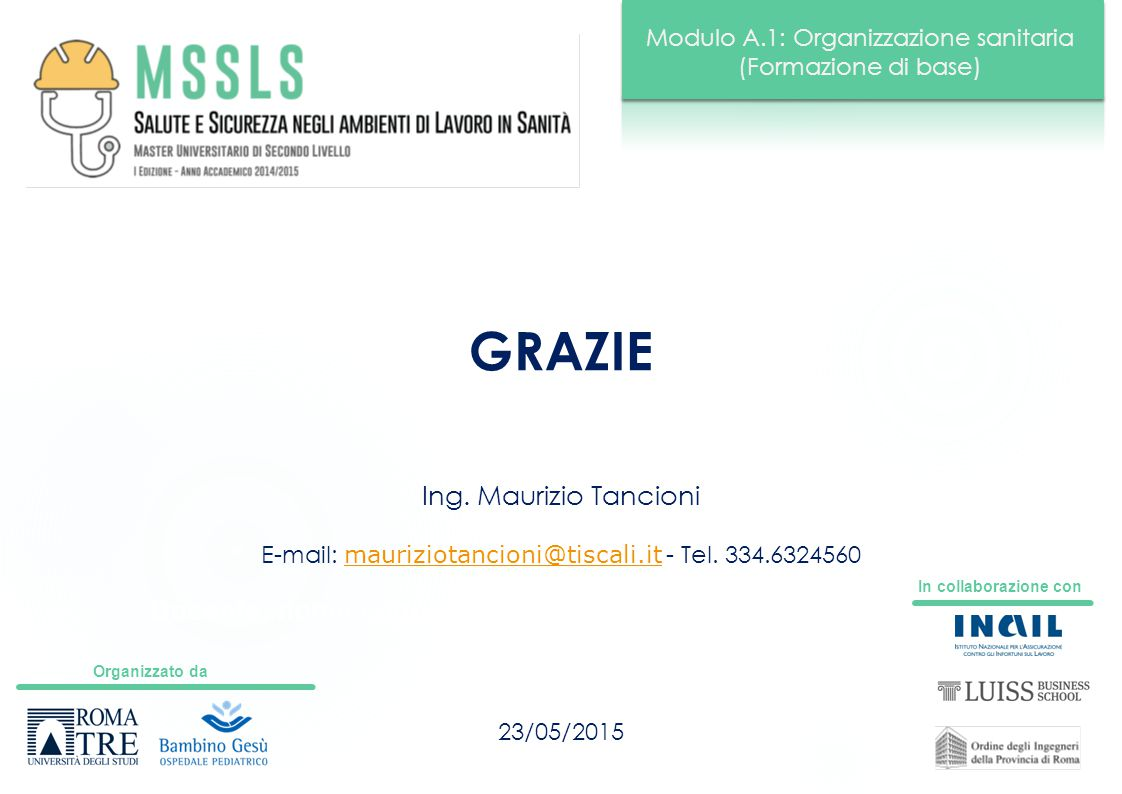 E-mail: mauriziotancioni@tiscali.it - Tel. 334.6324560