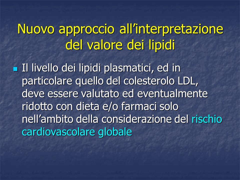 Nuovo approccio all'interpretazione del valore dei lipidi