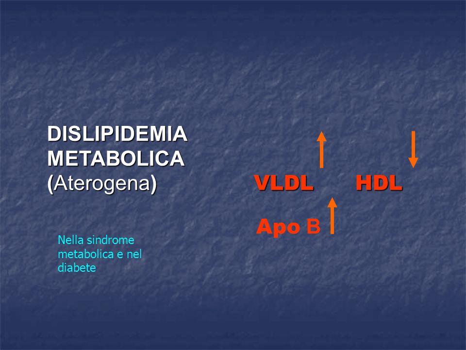 DISLIPIDEMIA METABOLICA (Aterogena) VLDL HDL Apo B