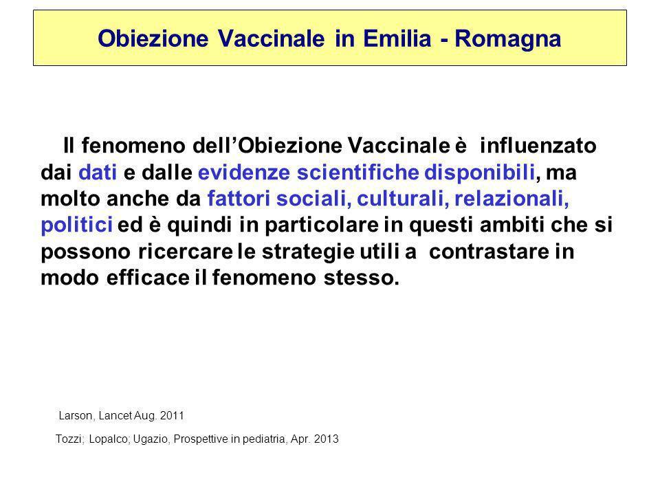 Obiezione Vaccinale in Emilia - Romagna