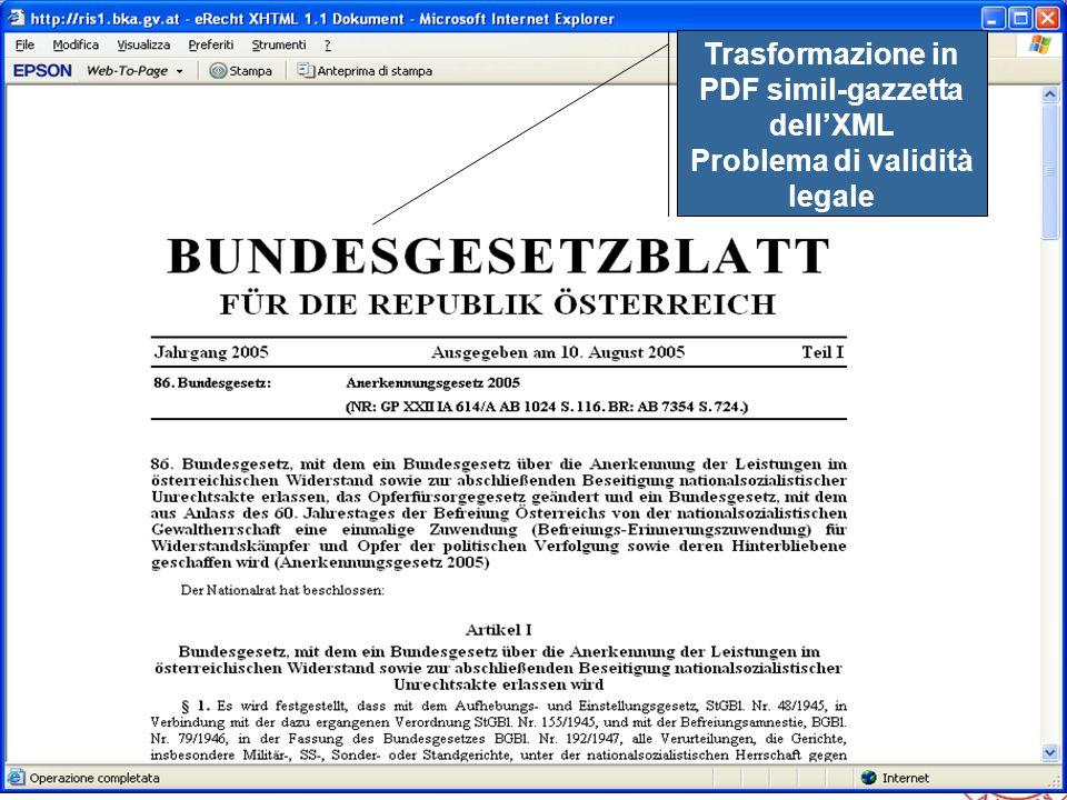 Trasformazione in PDF simil-gazzetta dell'XML