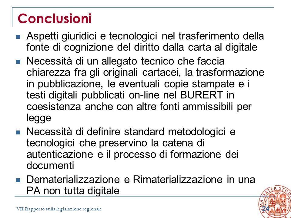 Conclusioni Aspetti giuridici e tecnologici nel trasferimento della fonte di cognizione del diritto dalla carta al digitale.