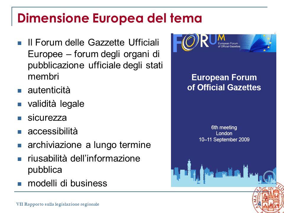 Dimensione Europea del tema