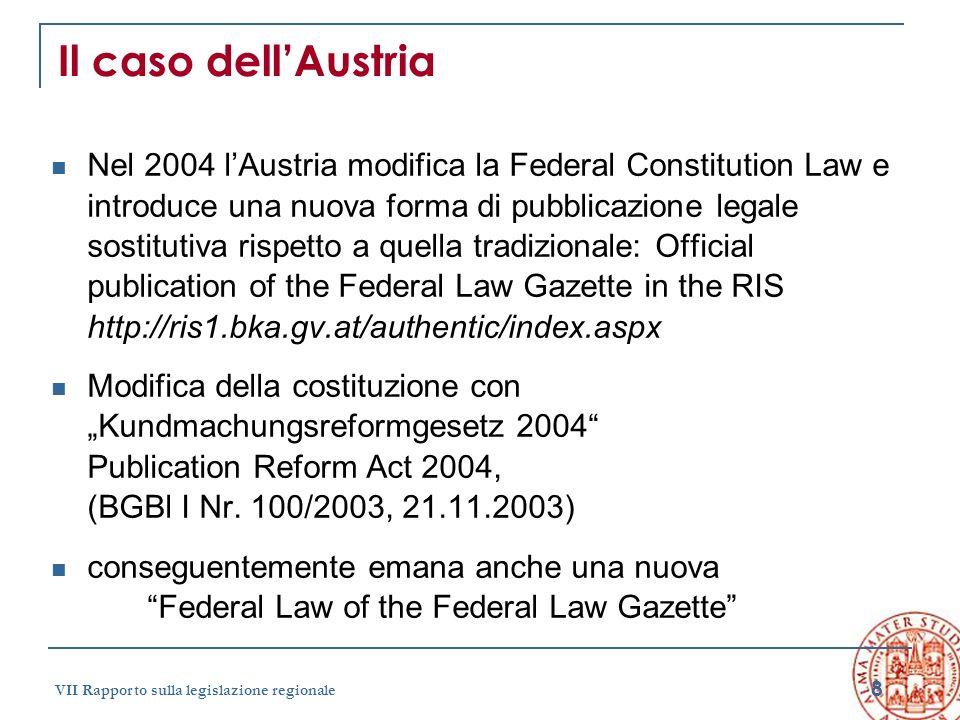 Il caso dell'Austria