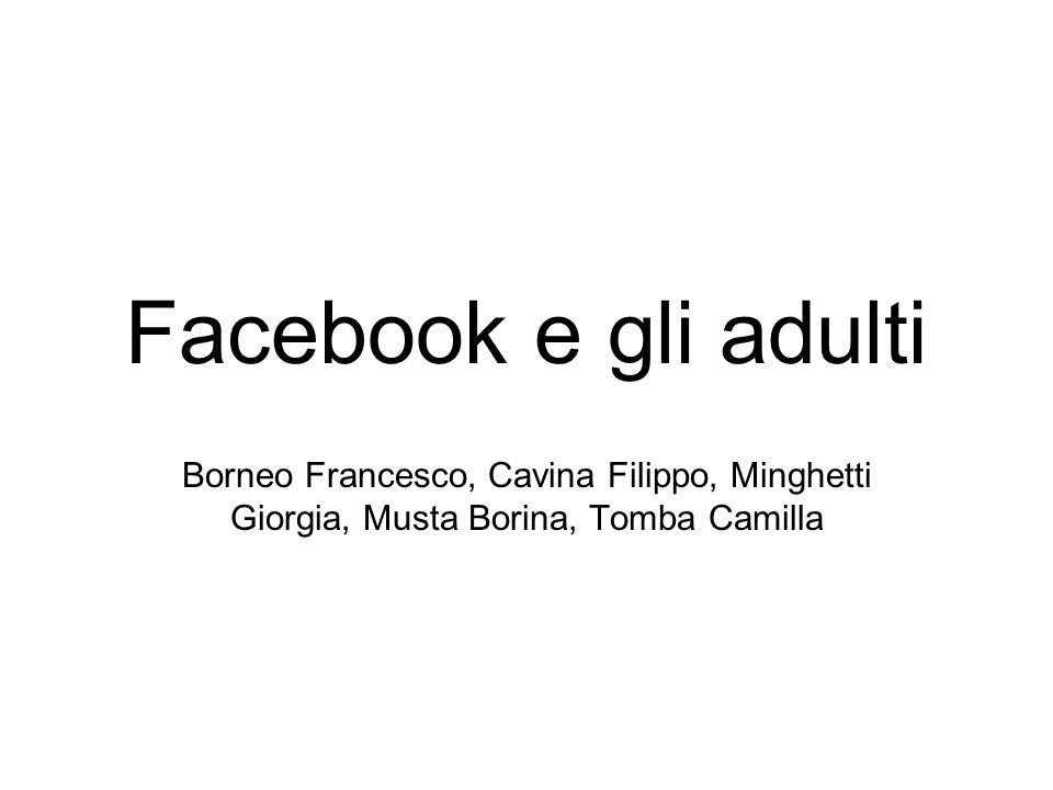 Facebook e gli adulti Borneo Francesco, Cavina Filippo, Minghetti Giorgia, Musta Borina, Tomba Camilla.