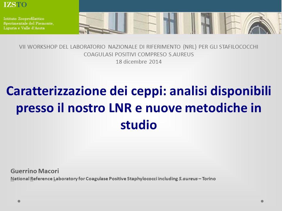 IZSTO Istituto Zooprofilattico. Sperimentale del Piemonte, Liguria e Valle d'Aosta.