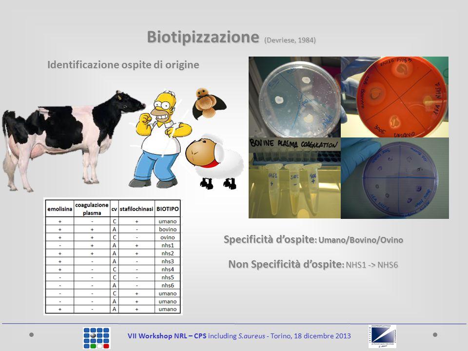 Biotipizzazione (Devriese, 1984)