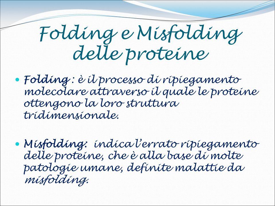Folding e Misfolding delle proteine