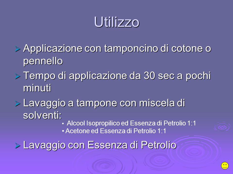 Utilizzo Applicazione con tamponcino di cotone o pennello
