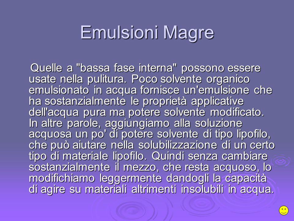 Emulsioni Magre